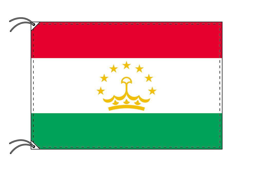 【レンタル】 3泊4日レンタル旗 タジキスタン国旗・付属品セット[90×135cm国旗・3mポール・扁平玉・スタンド・高級テトロン製]安心の日本製