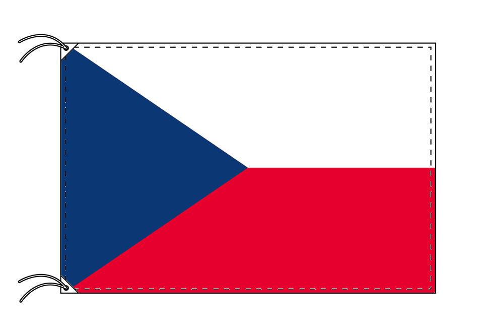 【レンタル】 3泊4日レンタル旗 チェコ国旗・付属品セット[90×135cm国旗・3mポール・扁平玉・スタンド・高級テトロン製]安心の日本製
