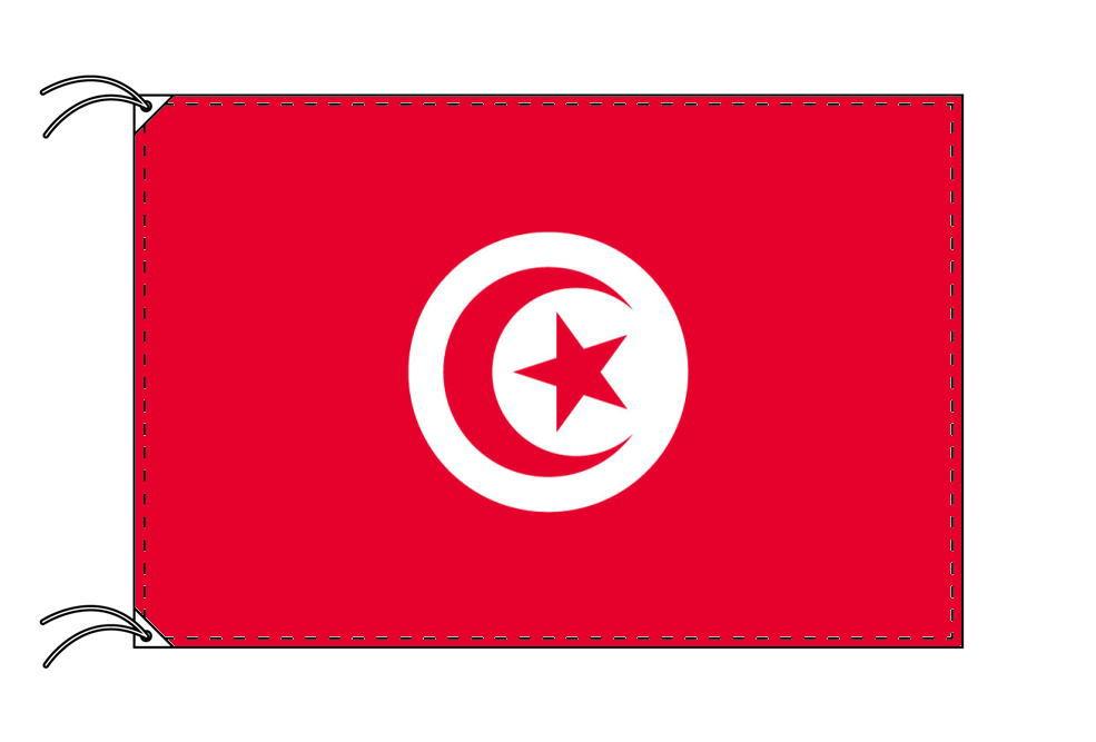 【レンタル】 3泊4日レンタル旗 チュニジア国旗・付属品セット[90×135cm国旗・3mポール・扁平玉・スタンド・高級テトロン製]安心の日本製
