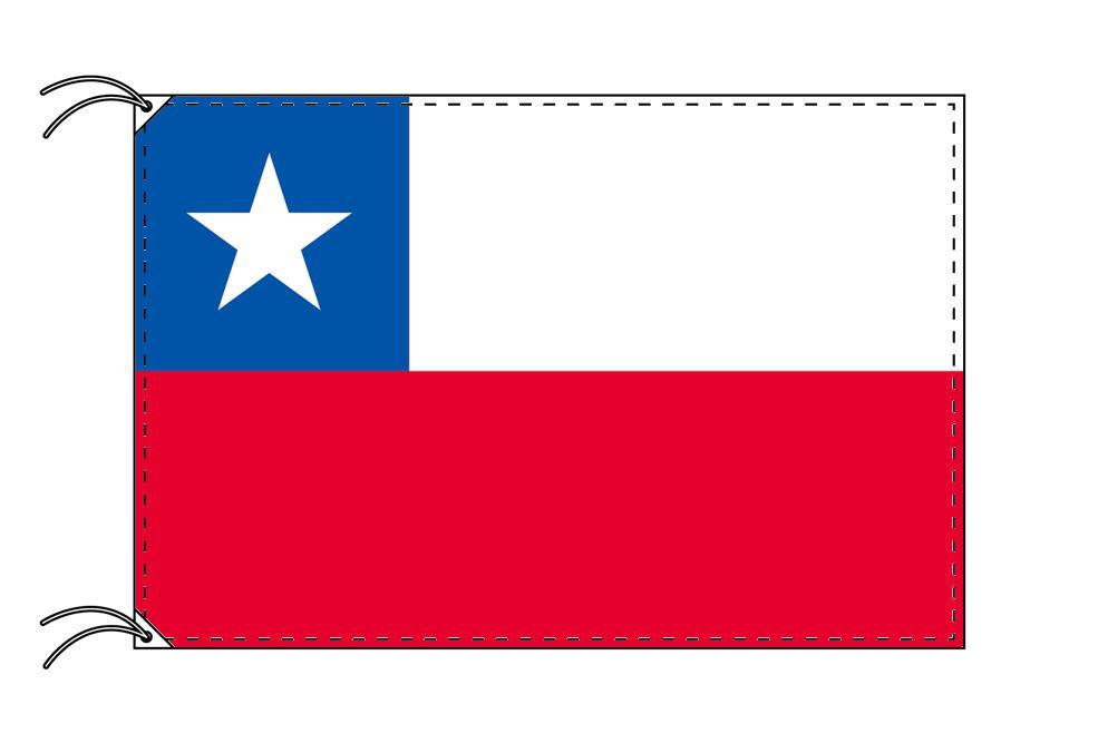 【レンタル】 3泊4日レンタル旗 チリ国旗(旗単品)[90×135cm国旗・高級テトロン製]安心の日本製