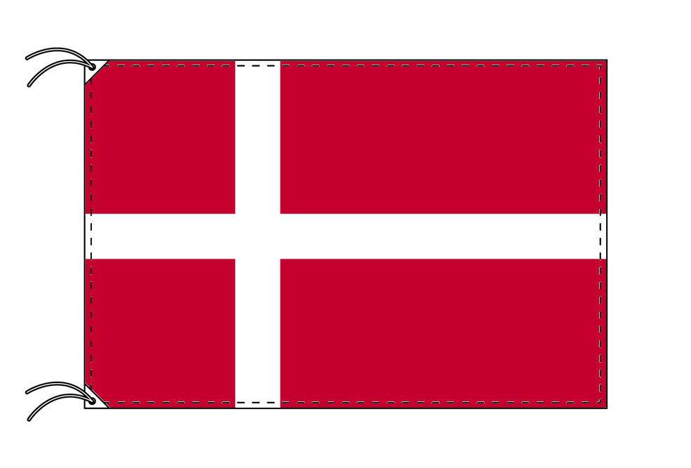 【レンタル】 3泊4日レンタル旗 デンマーク国旗・付属品セット[90×135cm国旗・3mポール・扁平玉・スタンド・高級テトロン製]安心の日本製