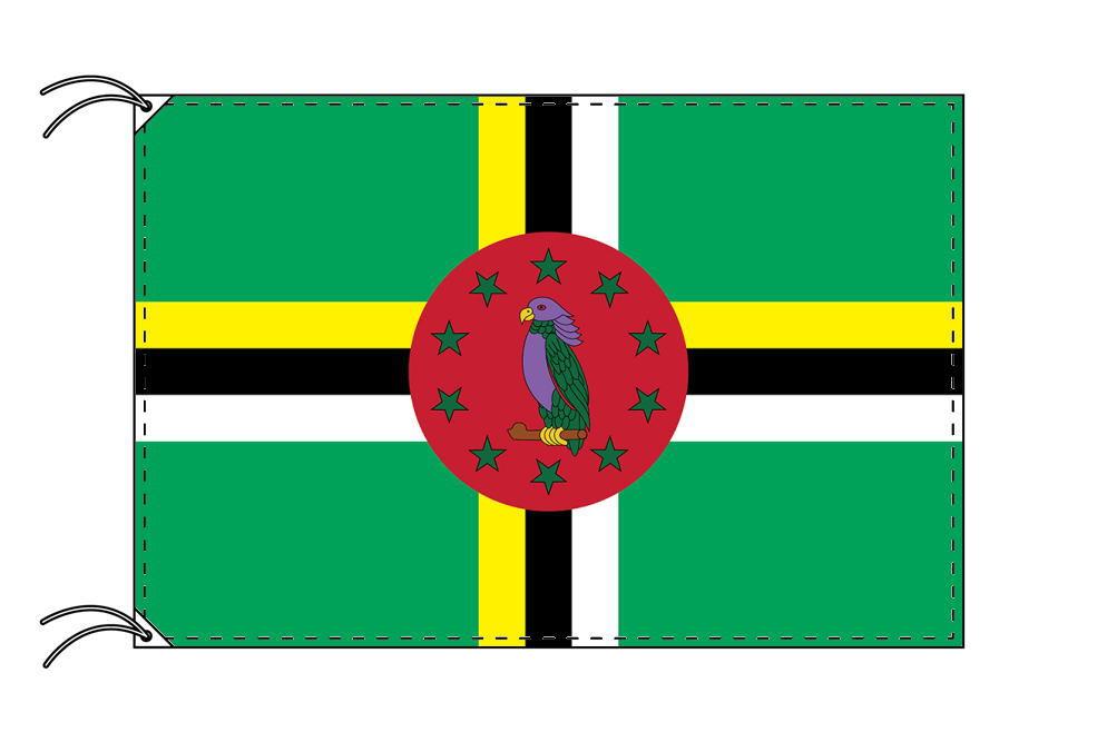 【レンタル】 3泊4日レンタル旗 ドミニカ国国旗(旗単品)[90×135cm国旗・高級テトロン製]安心の日本製