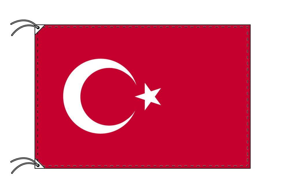 【レンタル】 3泊4日レンタル旗 トルコ国旗・付属品セット[90×135cm国旗・3mポール・扁平玉・スタンド・高級テトロン製]安心の日本製