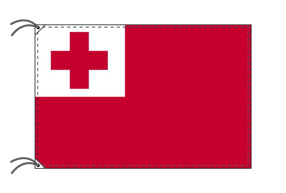 【レンタル】 3泊4日レンタル旗 トンガ国旗(旗単品)[90×135cm国旗・高級テトロン製]安心の日本製