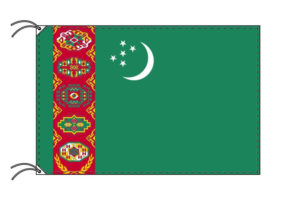 【レンタル】 3泊4日レンタル旗 トルクメニスタン国旗(旗単品)[90×135cm国旗・高級テトロン製]安心の日本製