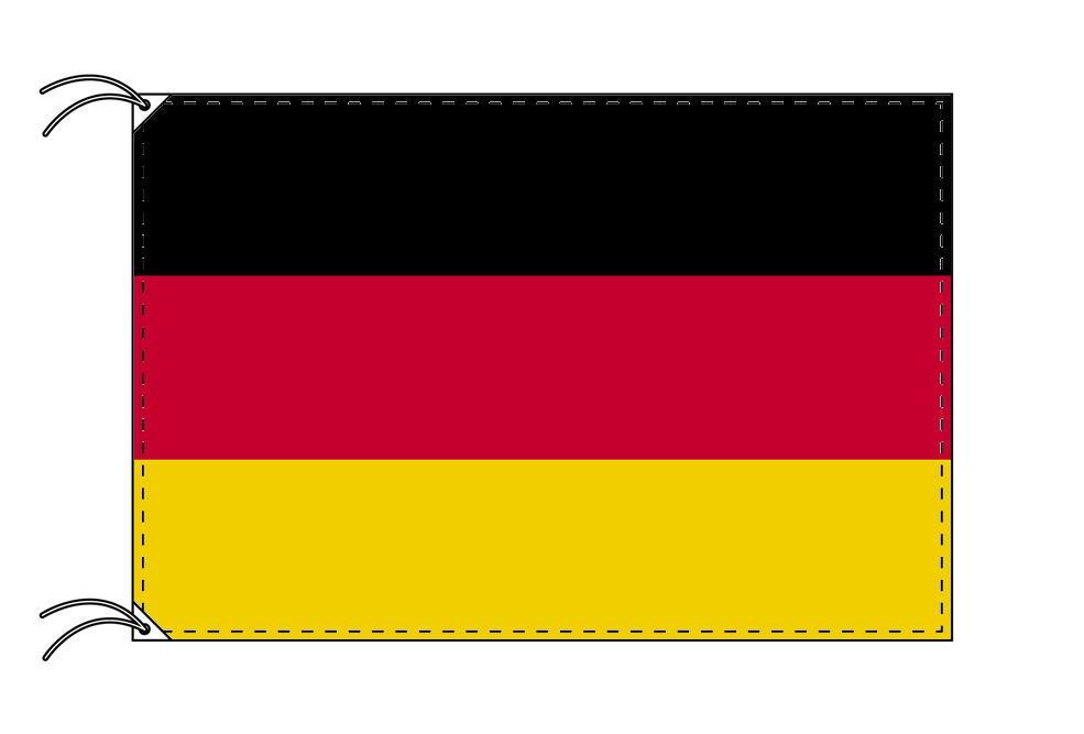 【レンタル】 3泊4日レンタル旗 ドイツ国旗・付属品セット[90×135cm国旗・3mポール・扁平玉・スタンド・高級テトロン製]安心の日本製