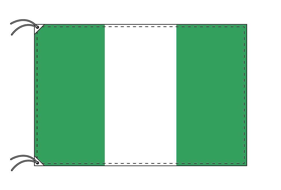 【レンタル】 3泊4日レンタル旗 ナイジェリア国旗(旗単品)[90×135cm国旗・高級テトロン製]安心の日本製