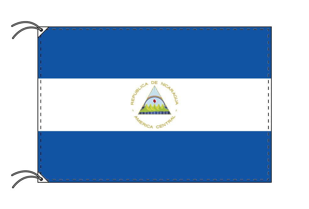 【レンタル】 3泊4日レンタル旗 ニカラグア国旗・付属品セット[90×135cm国旗・3mポール・扁平玉・スタンド・高級テトロン製]安心の日本製