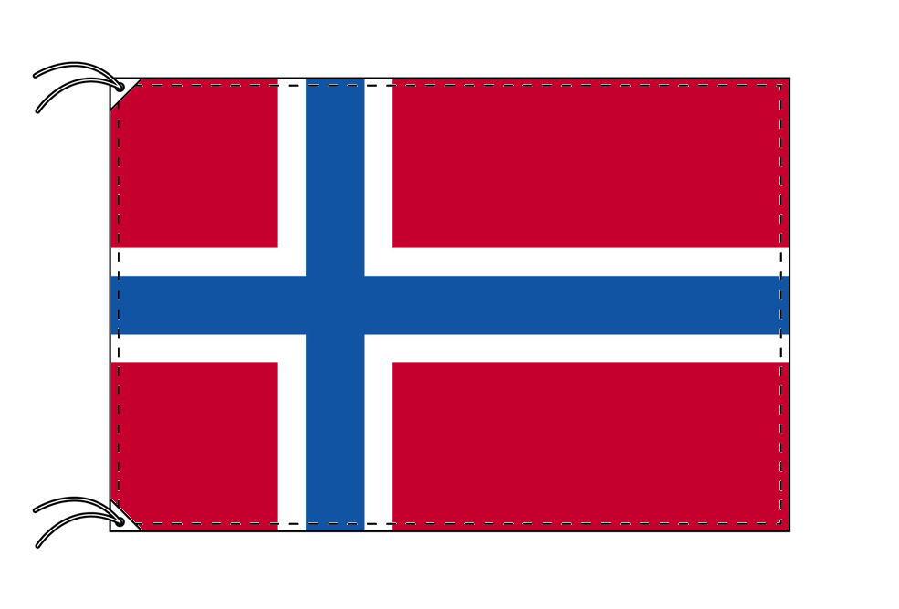 【レンタル】 3泊4日レンタル旗 ノルウェー国旗・付属品セット[90×135cm国旗・3mポール・扁平玉・スタンド・高級テトロン製]安心の日本製