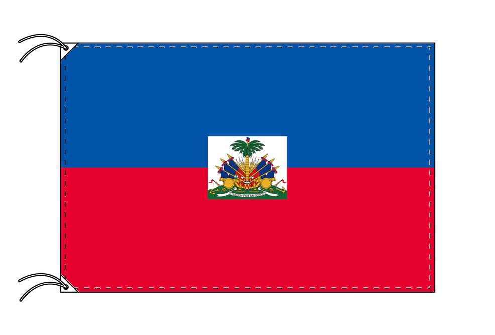 【レンタル】 3泊4日レンタル旗 ハイチ国旗・付属品セット[90×135cm国旗・3mポール・扁平玉・スタンド・高級テトロン製]安心の日本製