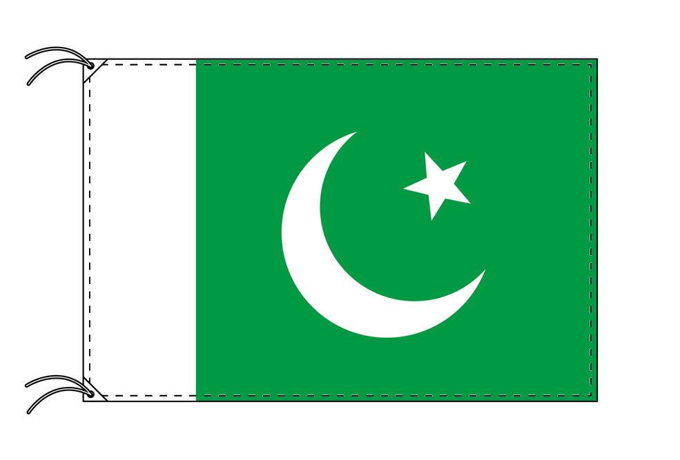 【レンタル】 3泊4日レンタル旗 パキスタン国旗・付属品セット[90×135cm国旗・3mポール・扁平玉・スタンド・高級テトロン製]安心の日本製