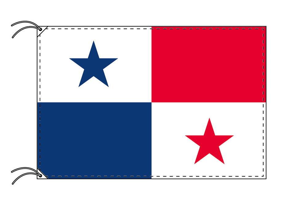 【レンタル】 3泊4日レンタル旗 パナマ国旗・付属品セット[90×135cm国旗・3mポール・扁平玉・スタンド・高級テトロン製]安心の日本製