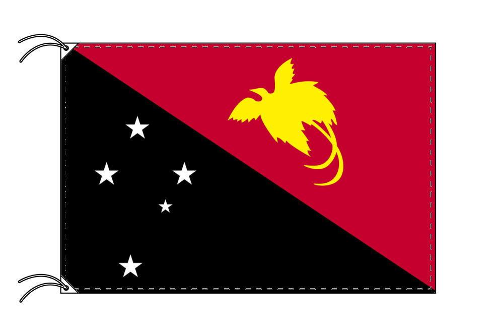 【レンタル】 3泊4日レンタル旗 パプアニューギニア国旗・付属品セット[90×135cm国旗・3mポール・扁平玉・スタンド・高級テトロン製]安心の日本製