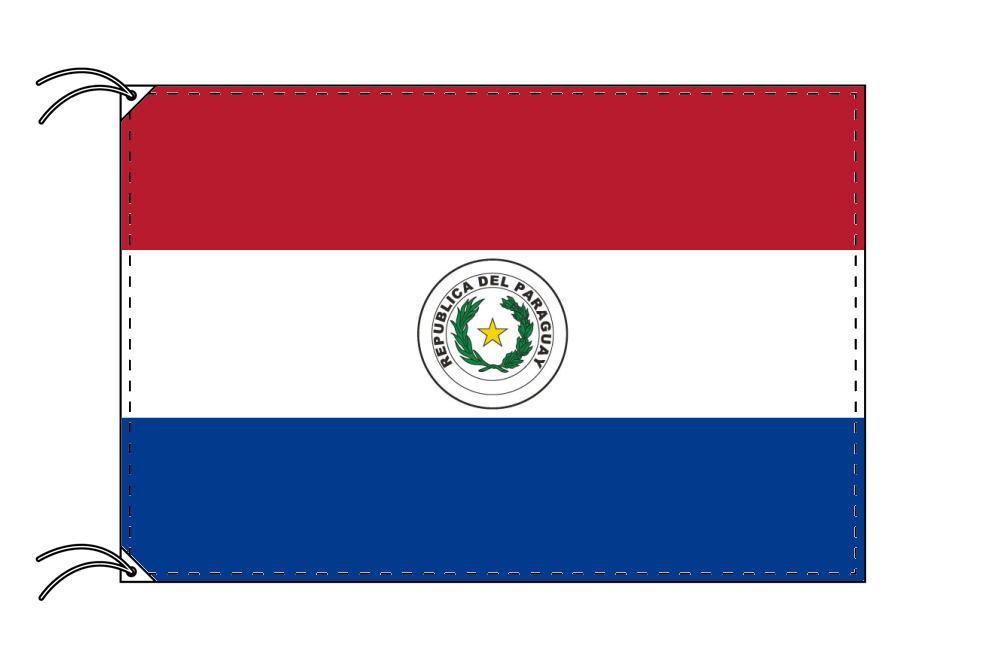 【レンタル】 3泊4日レンタル旗 パラグアイ国旗・付属品セット[90×135cm国旗・3mポール・扁平玉・スタンド・高級テトロン製]安心の日本製