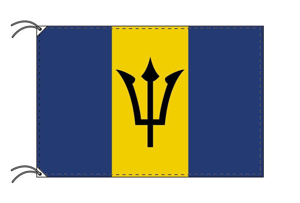 【レンタル】 3泊4日レンタル旗 バルバドス国旗(旗単品)[90×135cm国旗・高級テトロン製]安心の日本製