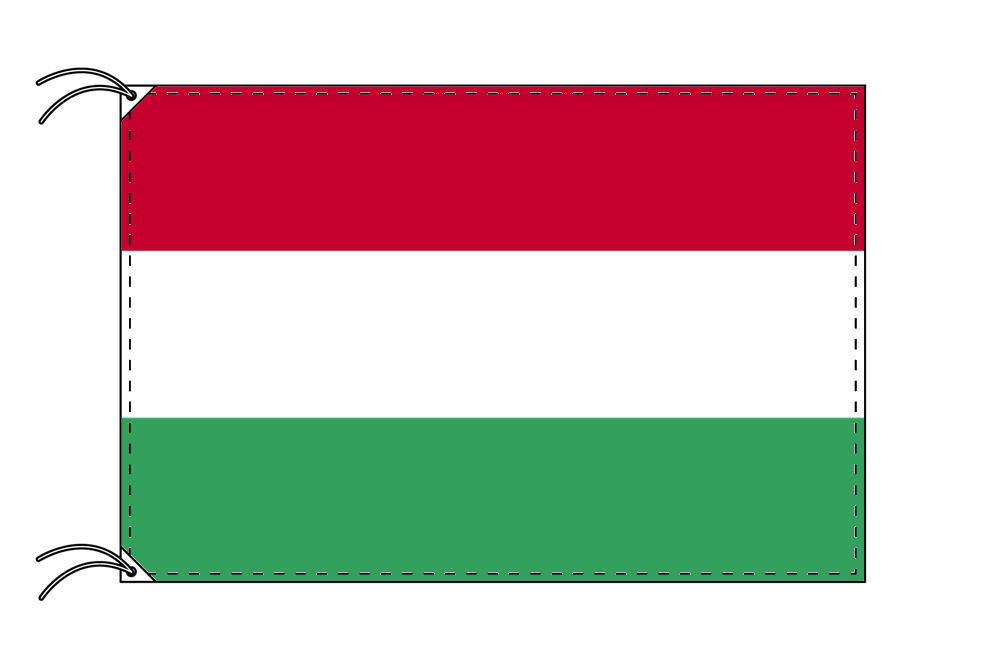 【レンタル】 3泊4日レンタル旗 ハンガリー国旗(旗単品)[90×135cm国旗・高級テトロン製]安心の日本製