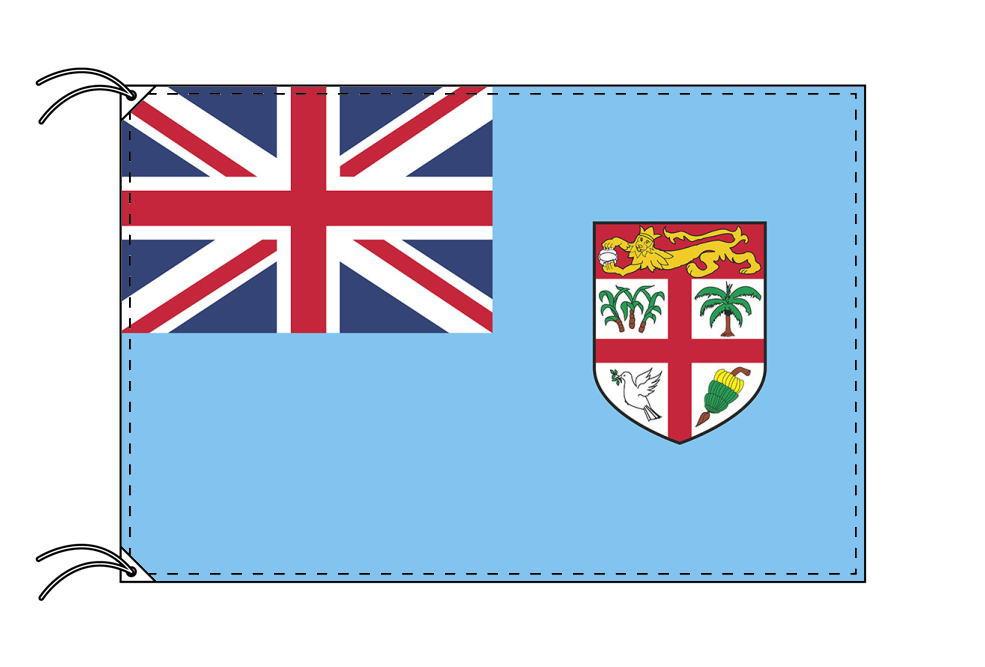 【レンタル】 3泊4日レンタル旗 フィジー諸島国旗・付属品セット[90×135cm国旗・3mポール・扁平玉・スタンド・高級テトロン製]安心の日本製
