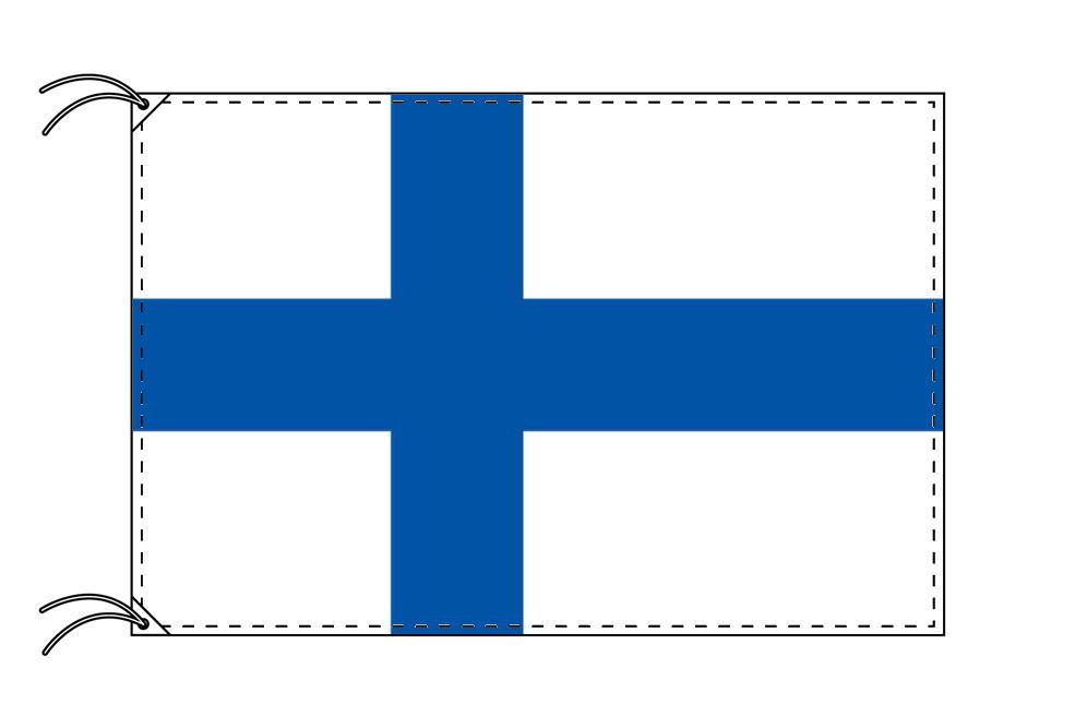 【レンタル】 3泊4日レンタル旗 フィンランド国旗・付属品セット[90×135cm国旗・3mポール・扁平玉・スタンド・高級テトロン製]安心の日本製