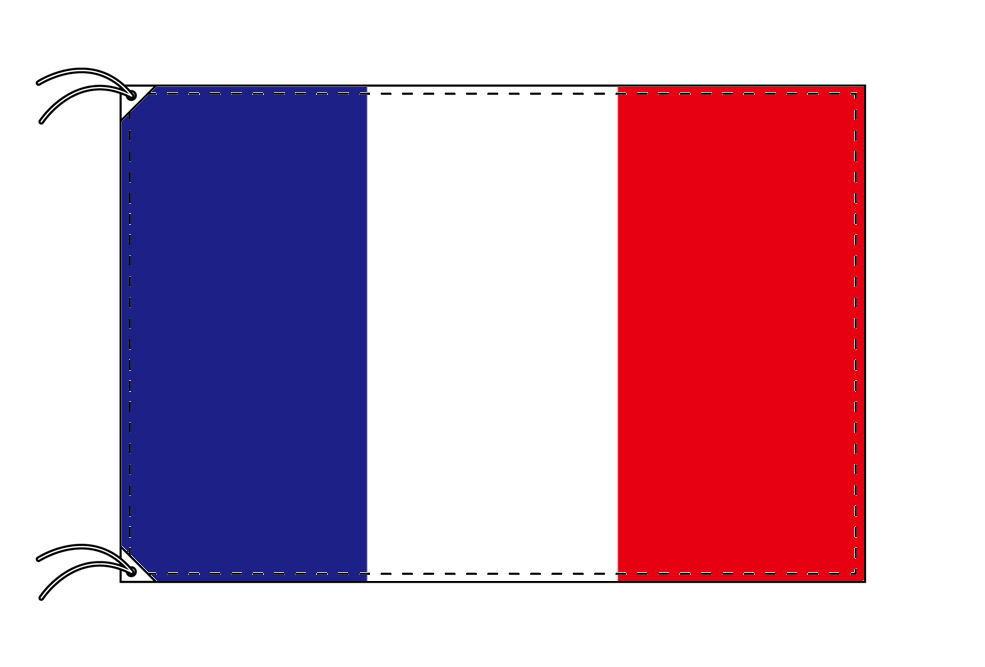 【レンタル】 3泊4日レンタル旗 フランス国旗・付属品セット[90×135cm国旗・3mポール・扁平玉・スタンド・高級テトロン製]安心の日本製