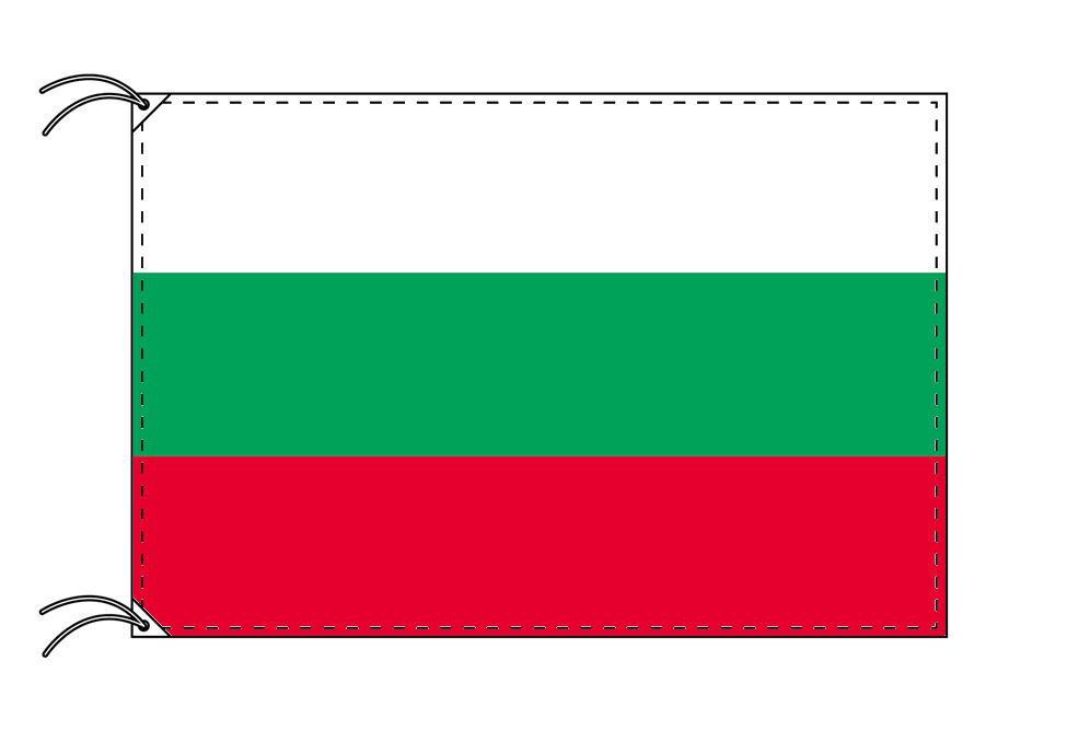 【レンタル】 3泊4日レンタル旗 ブルガリア国旗・付属品セット[90×135cm国旗・3mポール・扁平玉・スタンド・高級テトロン製]安心の日本製