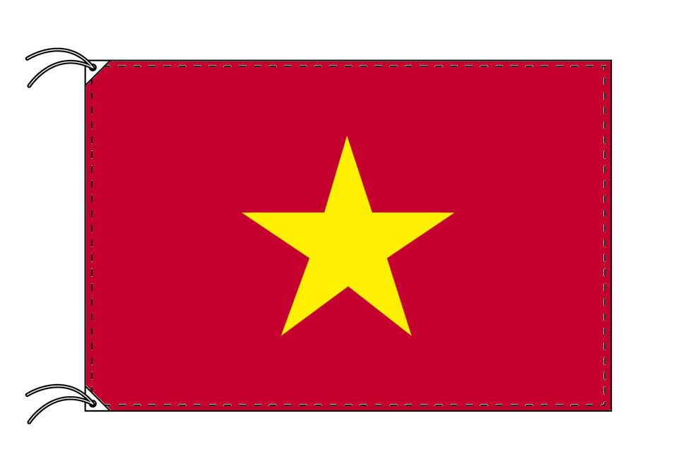 【レンタル】 3泊4日レンタル旗 ベトナム国旗・付属品セット[90×135cm国旗・3mポール・扁平玉・スタンド・高級テトロン製]安心の日本製