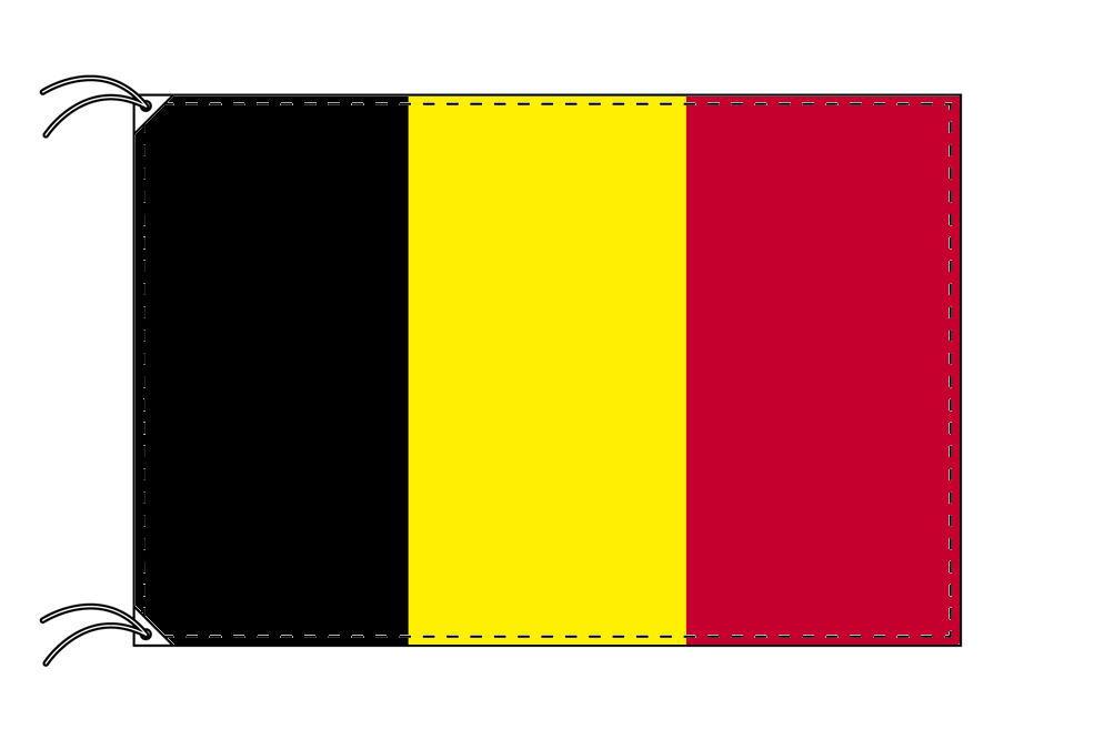 【レンタル】 3泊4日レンタル旗 ベルギー国旗・付属品セット[90×135cm国旗・3mポール・扁平玉・スタンド・高級テトロン製]安心の日本製