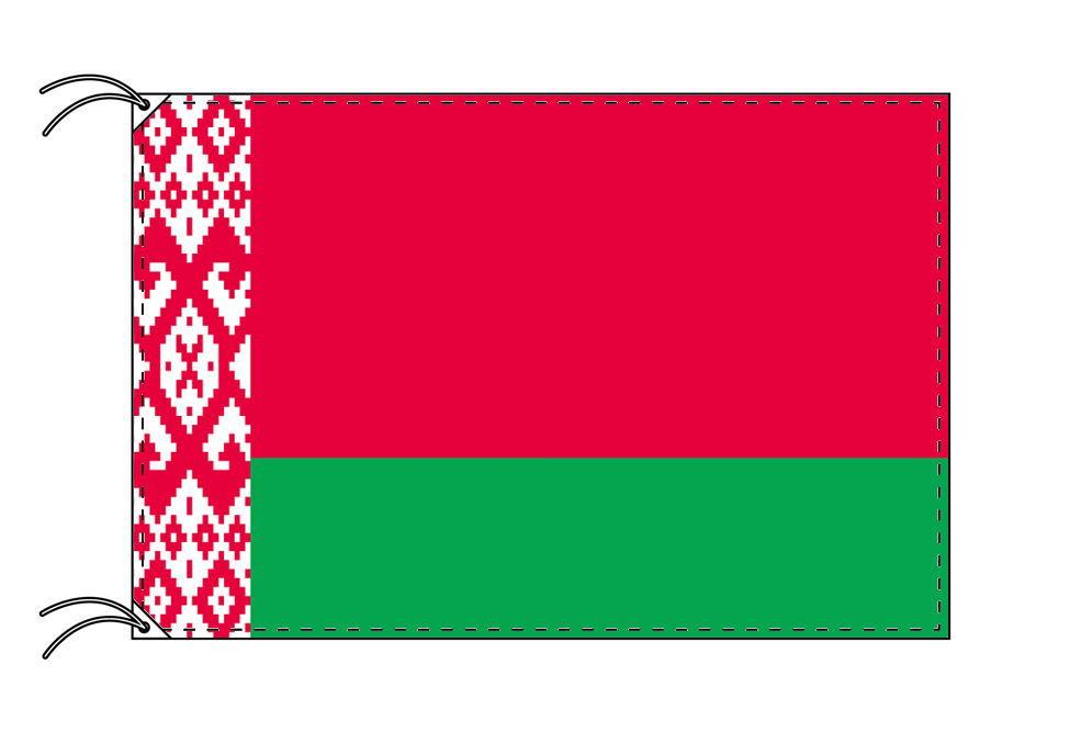【レンタル】 3泊4日レンタル旗 ベラルーシ国旗・付属品セット[90×135cm国旗・3mポール・扁平玉・スタンド・高級テトロン製]安心の日本製