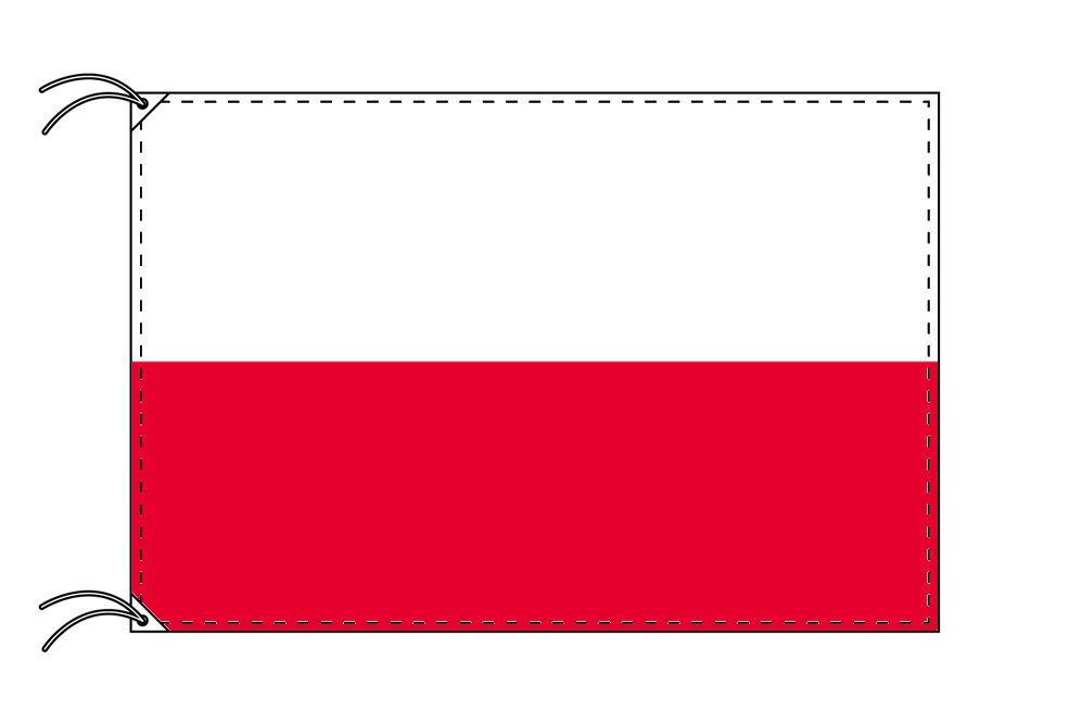 【レンタル】 3泊4日レンタル旗 ポーランド国旗(旗単品)[90×135cm国旗・高級テトロン製]安心の日本製