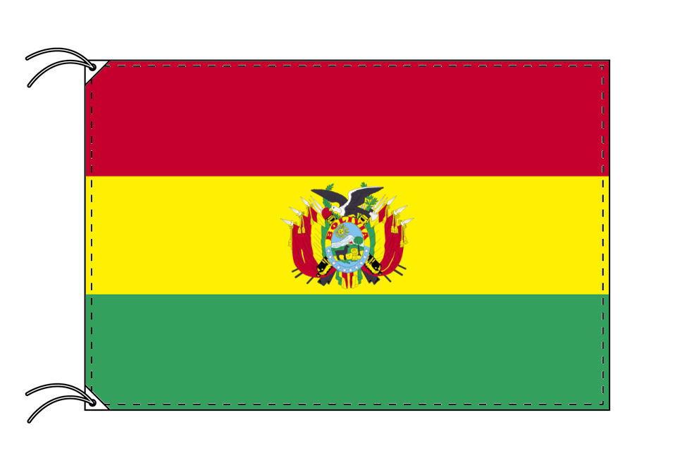 【レンタル】 3泊4日レンタル旗 ボリビア国旗(旗単品)[90×135cm国旗・高級テトロン製]安心の日本製