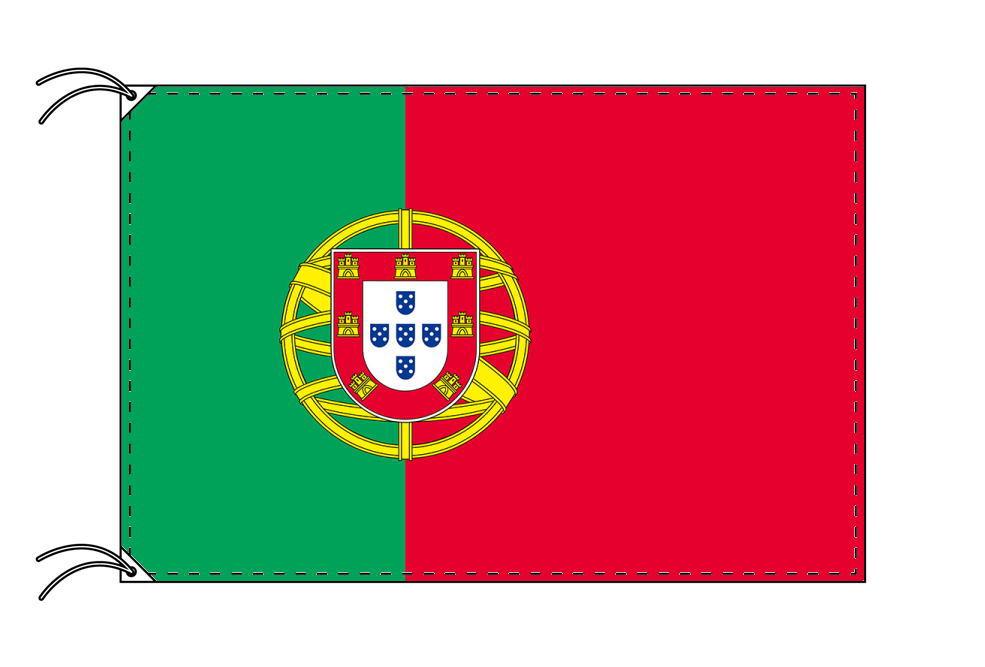 【レンタル】 3泊4日レンタル旗 ポルトガル国旗・付属品セット[90×135cm国旗・3mポール・扁平玉・スタンド・高級テトロン製]安心の日本製