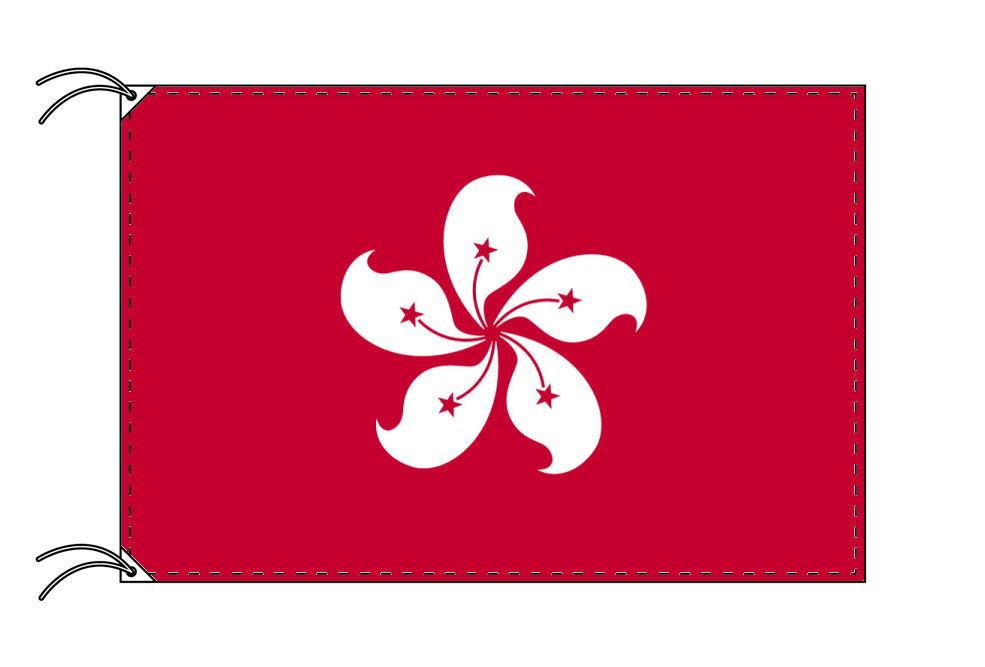 【レンタル】 3泊4日レンタル旗 香港[ホンコン]国旗・付属品セット[90×135cm国旗・3mポール・扁平玉・スタンド・高級テトロン製]安心の日本製