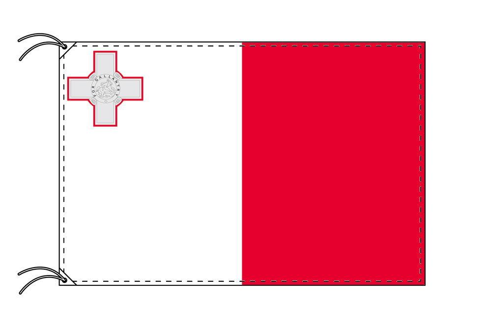 【レンタル】 3泊4日レンタル旗 マルタ国旗(旗単品)[90×135cm国旗・高級テトロン製]安心の日本製
