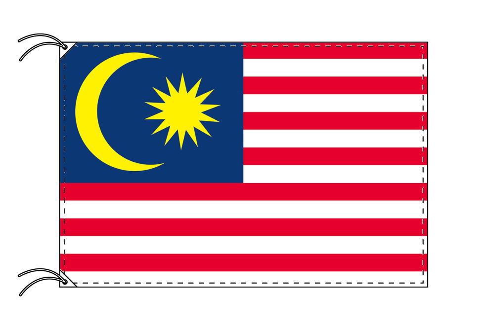 【レンタル】 3泊4日レンタル旗 マレーシア国旗(旗単品)[90×135cm国旗・高級テトロン製]安心の日本製