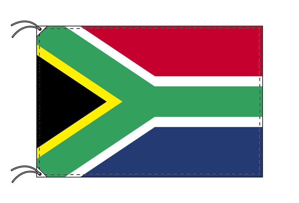 【レンタル】 3泊4日レンタル旗 南アフリカ国旗・付属品セット[90×135cm国旗・3mポール・扁平玉・スタンド・高級テトロン製]安心の日本製