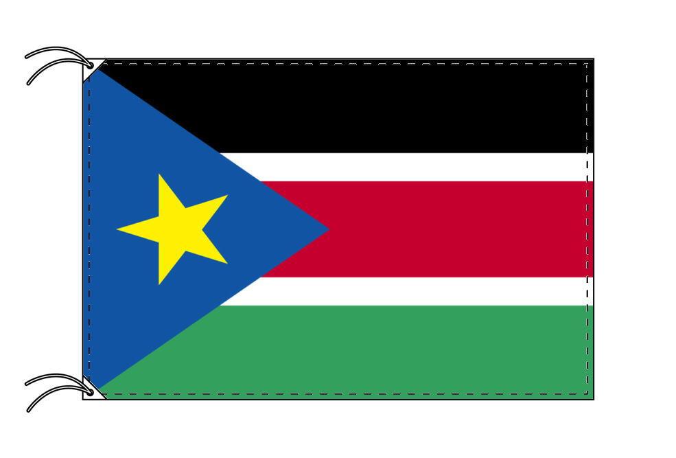 【レンタル】 3泊4日レンタル旗 南スーダン国旗(旗単品)[90×135cm国旗・高級テトロン製]安心の日本製