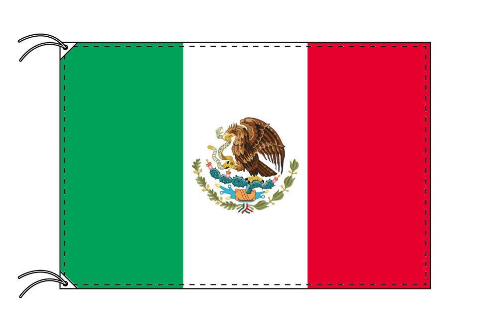【レンタル】 3泊4日レンタル旗 メキシコ国旗・付属品セット[90×135cm国旗・3mポール・扁平玉・スタンド・高級テトロン製]安心の日本製
