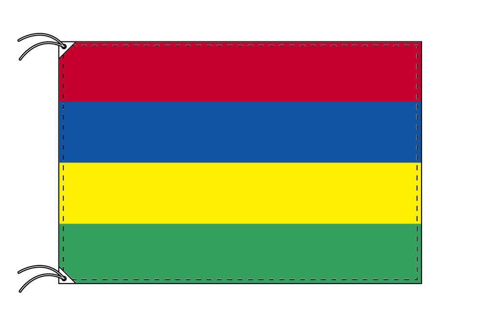 【レンタル】 3泊4日レンタル旗 モーリシャス国旗(旗単品)[90×135cm国旗・高級テトロン製]安心の日本製