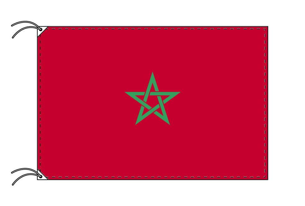 【レンタル】 3泊4日レンタル旗 モロッコ国旗(旗単品)[90×135cm国旗・高級テトロン製]安心の日本製