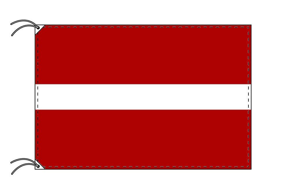 【レンタル】 3泊4日レンタル旗 ラトビア国旗(旗単品)[90×135cm国旗・高級テトロン製]安心の日本製