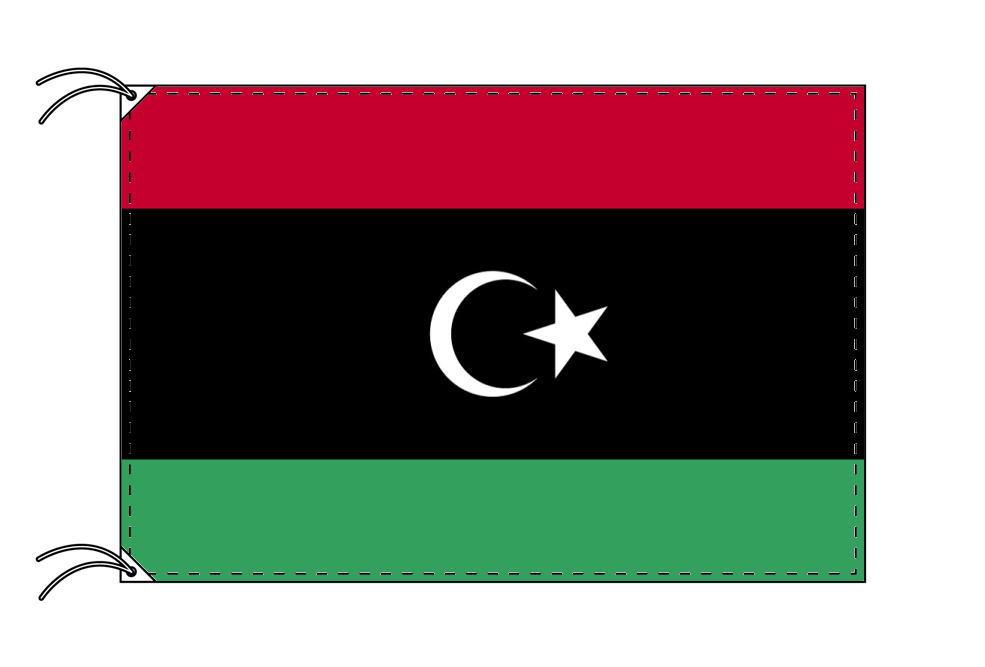 【レンタル】 3泊4日レンタル旗 リビア国旗(旗単品)[90×135cm国旗・高級テトロン製]安心の日本製
