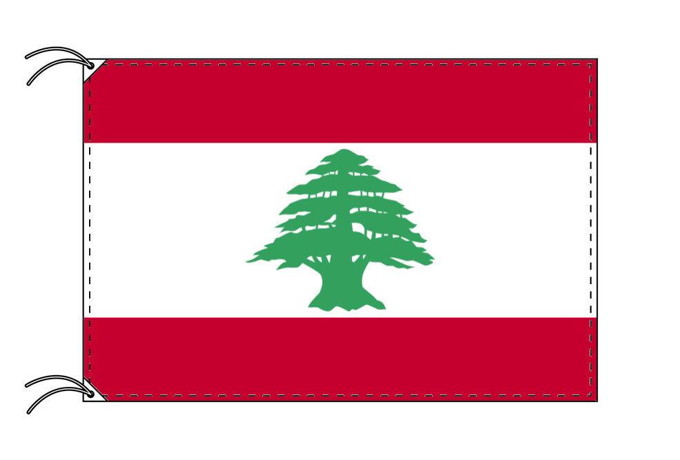 【レンタル】 3泊4日レンタル旗 レバノン国旗・付属品セット[90×135cm国旗・3mポール・扁平玉・スタンド・高級テトロン製]安心の日本製