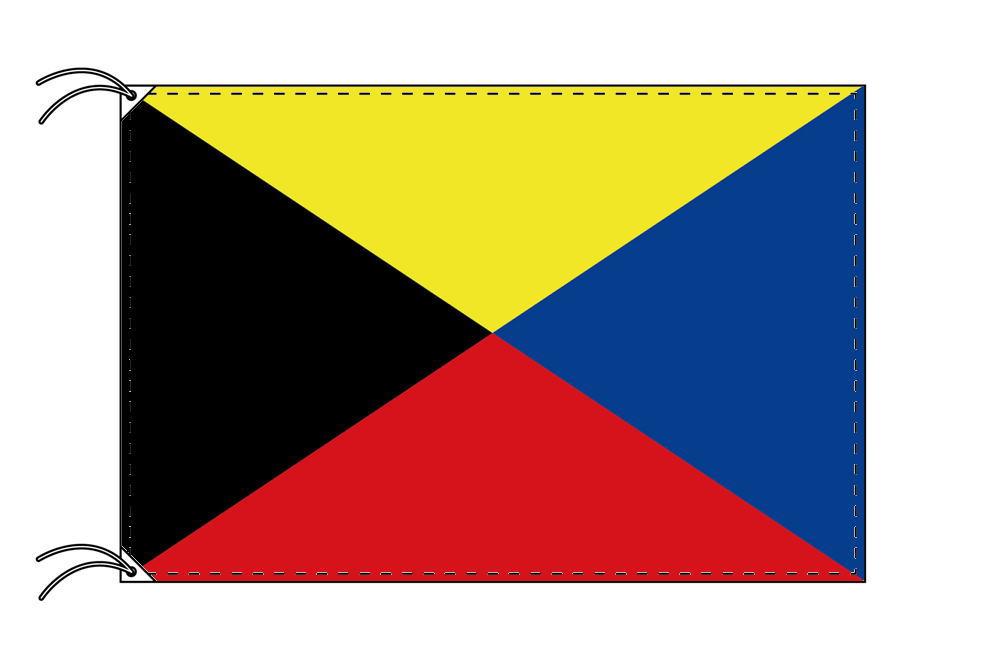 【レンタル】 3泊4日レンタル旗 Z旗・付属品セット[90×135cm国旗・3mポール・扁平玉・スタンド・高級テトロン製]安心の日本製
