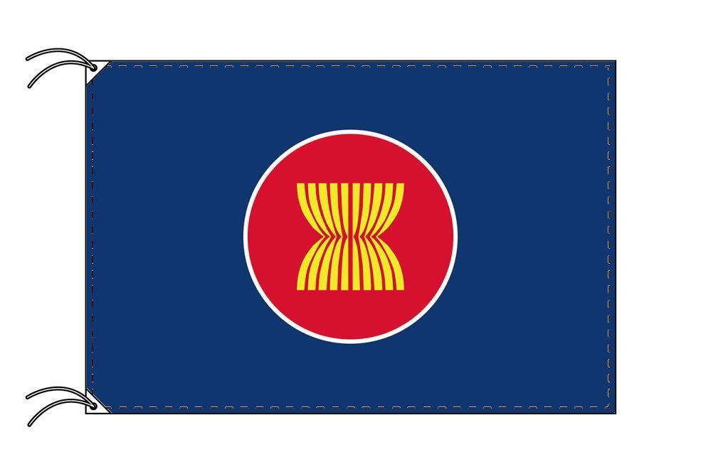 【レンタル】 3泊4日レンタル旗 アセアン(旗単品)[東南アジア諸国連合]国旗[90×135cm国旗・高級テトロン製]安心の日本製