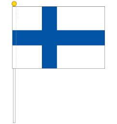 フィンランド国旗 ポータブルフラッグ 吸盤付きセット 旗サイズ25×37.5cm テトロン製 日本製 世界の国旗シリーズ