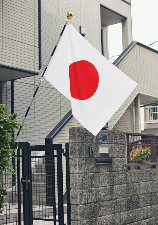 日の丸国旗セットCセット テトロン 70×105cm 日本国旗 3m6段組み立て式スチールポール 店舗 家庭用 日本製