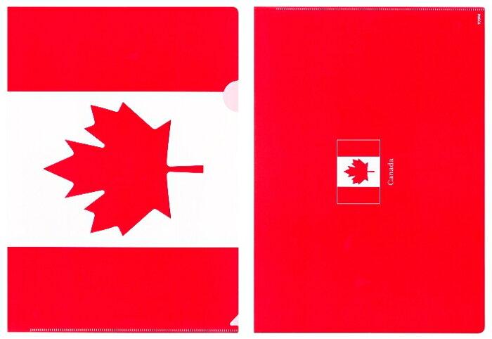 クリアファイル A4 カナダ国旗 メープルリーフ柄【クリアフォルダー A4サイズ 310×220mm 】あす楽・日本製