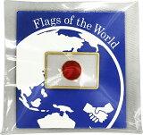 ピンバッジS 日本国旗 8×12mm