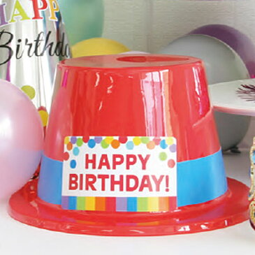 プラスチックトップハット レインボー アクセサリー パーティー 帽子 hat コスプレ 被り物 誕生日 バースデー