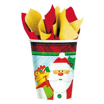 9ozカップ クラフティークリスマス クリスマス パーティー Christmas X'smas ポップ サンタ ペーパーカップ コップ