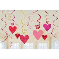 スワールバリューパック バレンタイン パーティーグッズ パーティー 装飾 バレンタイン Valentine オシャレ ハート 吊り下げる